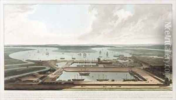 A View of the East India Docks Oil Painting - William Daniell RA