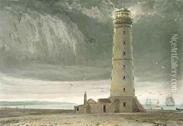 Dungeness Lighthouse Oil Painting - William Daniell RA