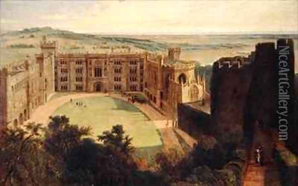 Arundel Castle from the Keep Oil Painting - William Daniell RA