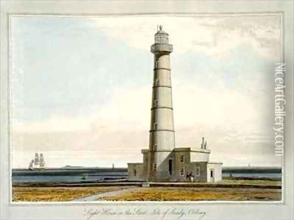 Light House on the Start Isle of Sandy Orkney Oil Painting - William Daniell RA