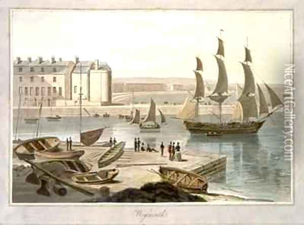 Weymouth Harbour Oil Painting - William Daniell RA