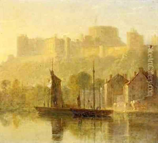 Windsor Castle from the Thames Oil Painting - William Daniell RA