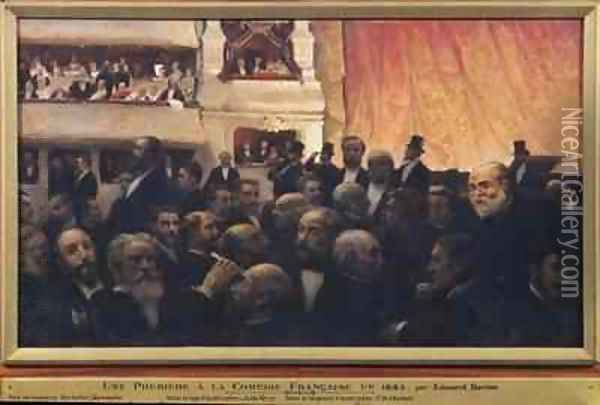 First Night at the Comedie Francaise in 1885 Oil Painting - Edouard Dantan