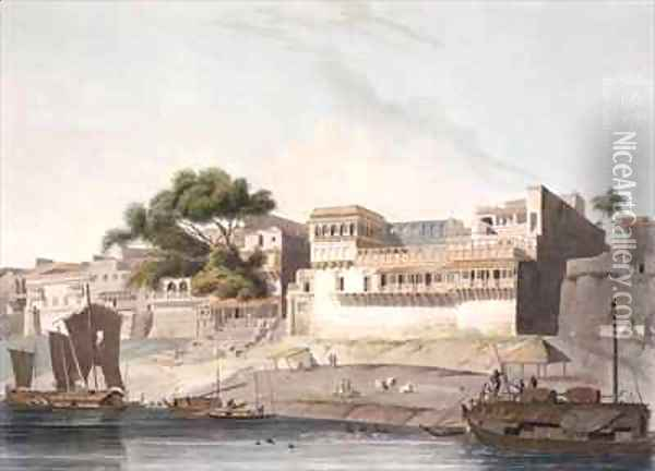 Part of the City of Patna on the River Ganges 2 Oil Painting - Thomas Daniell