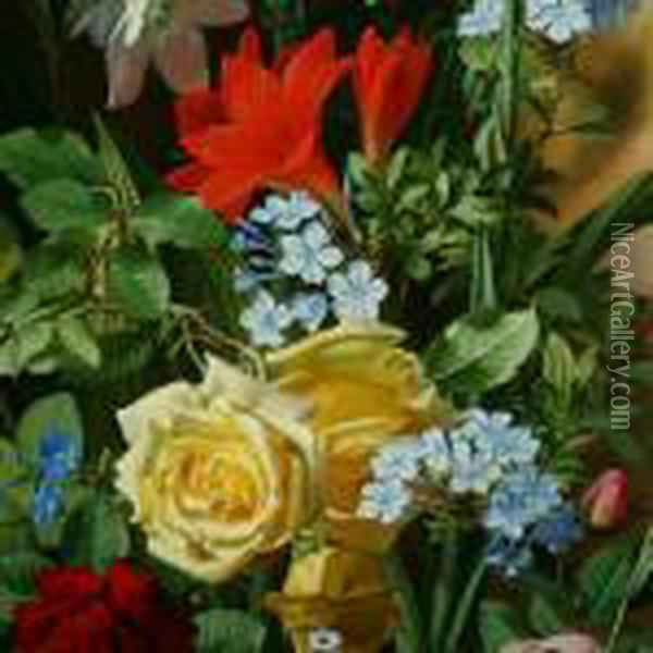 Flowers Oil Painting - Otto Didrik Ottesen