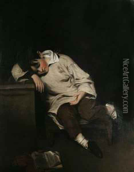 The Snoozing Scholar Oil Painting - William Owen