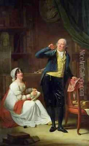Jacques Delille 1738-1813 and his Wife Oil Painting - Henri Pierre Danloux