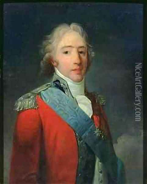 Portrait of Charles of France 1757-1836 Count of Artois future Charles X King of France and Navarre Oil Painting - Henri Pierre Danloux