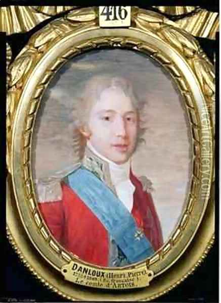 Portrait of Charles of France 1757-1836 Oil Painting - Henri Pierre Danloux