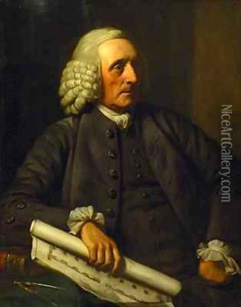 Portrait of George Dance the Elder Oil Painting - Sir Nathaniel Dance-Holland