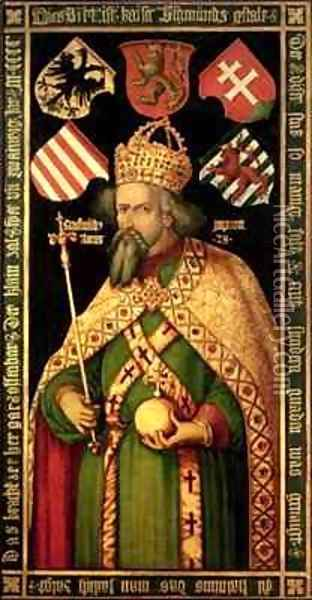Emperor Sigismund Holy Roman Emperor King of Hungary and Bohemia 1368-1437 Oil Painting - Durer or Duerer, Albrecht