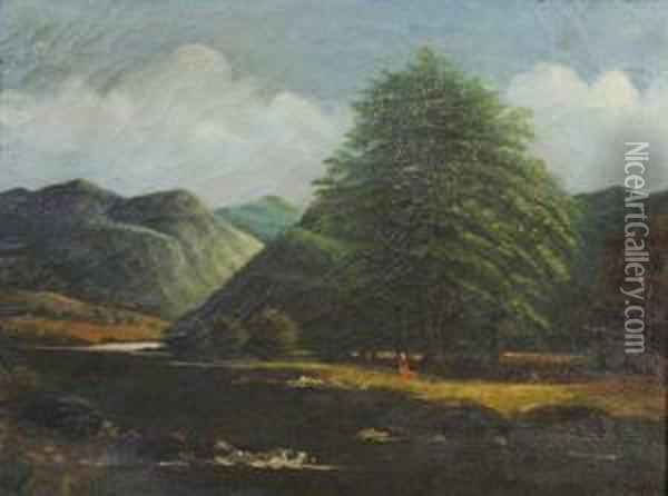 Close Of Day Oil Painting - Abraham Pether