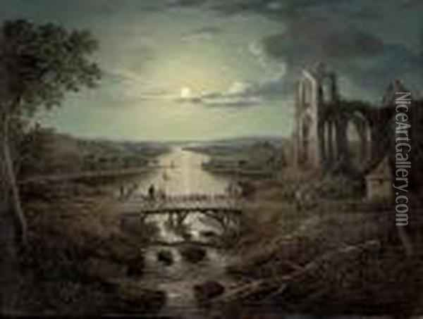 A Moonlit View Of The River 