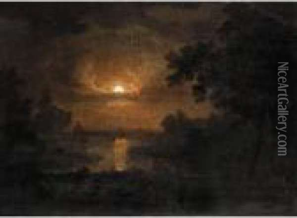 The Flight Into Egypt Oil Painting - Abraham Pether