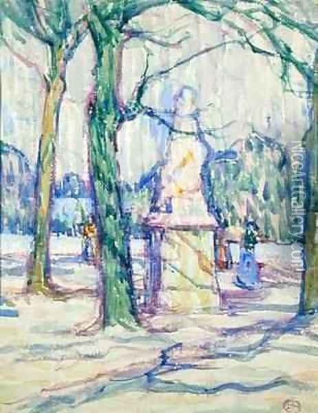 In the Luxembourg Gardens Oil Painting - Jessica Stewart Dismorr