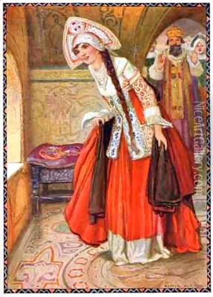 All the Palace Rang with her Merriment from the Tzareuna who Never Laughed Oil Painting - Arthur A. Dixon