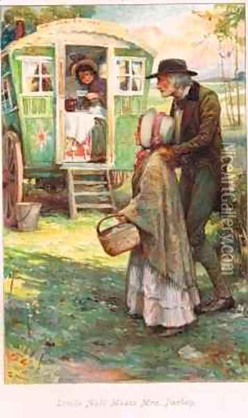 Little Nell meets Mrs Jarley Oil Painting - Arthur A. Dixon