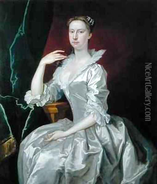 Portrait of Mrs Elizabeth Ingram Oil Painting - Bartholomew Dandridge