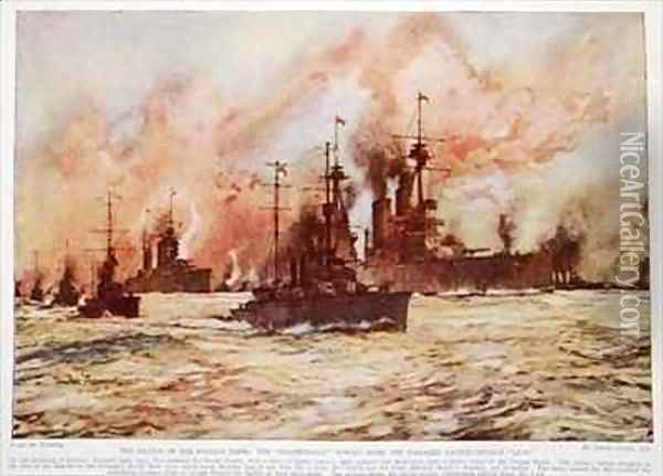 The Battle of the Dogger Bank Oil Painting - Charles Edward Dixon