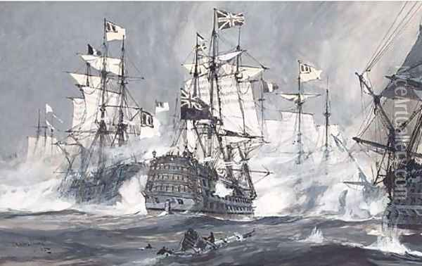The Anglo-Dutch war Oil Painting - Charles Edward Dixon