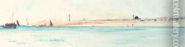 Off Hayling Island Oil Painting - Charles Edward Dixon