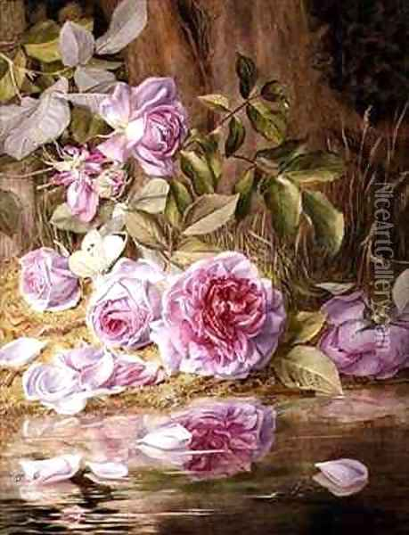 Blairie Roses Oil Painting - Mary Elizabeth Duffield