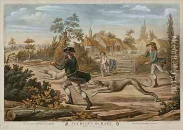 Coursing the Hare Oil Painting - Richard Dighton