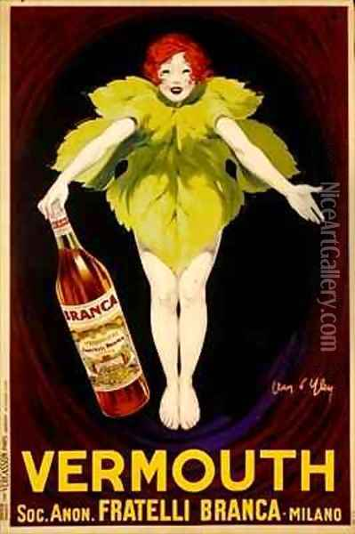 Poster advertising Fratelli Branca vermouth Oil Painting - Jean D'Ylen