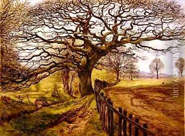 The Tree Oil Painting - John Milne Donald