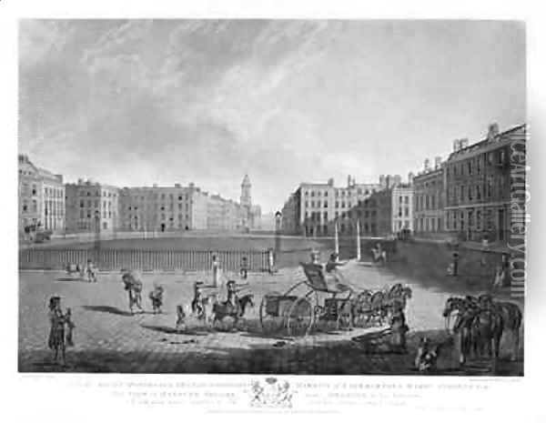 Hanover Square from a set of four views of London squares Oil Painting - Edward Dayes