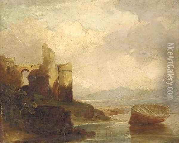 A ruined castle on an estuary Oil Painting - Francis Danby
