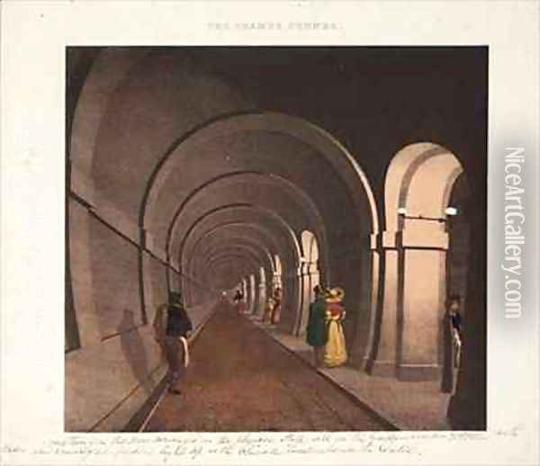 The Thames Tunnel Oil Painting - Dixie, B.