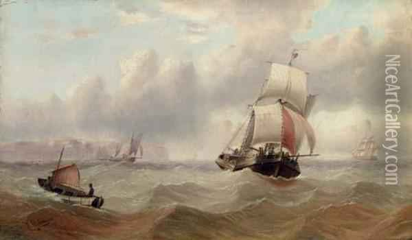 Shipping In The Channel Oil Painting - Edward King Redmore