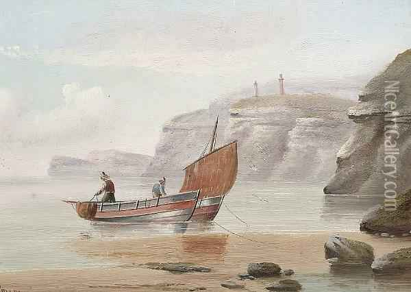 Coming In To Shore Oil Painting - Edward King Redmore