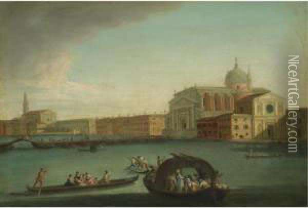 Venice, A View Of The Redentore In July Oil Painting - Giovanni Richter
