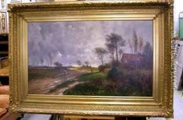 February Fill Dyke Oil Painting - Leopold Rivers