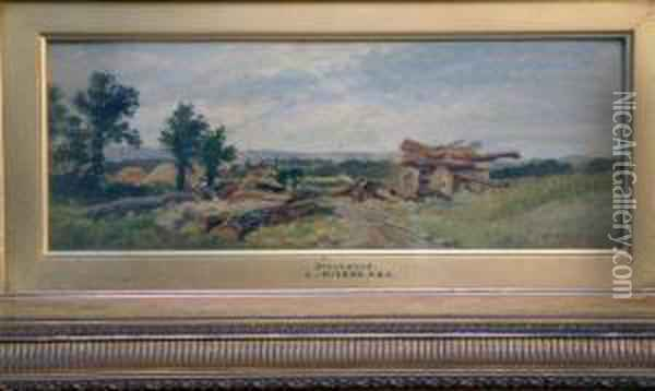 Brookwood Oil Painting - Leopold Rivers