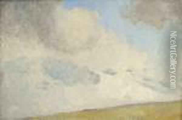 Cloud Study - Evening Glow Oil Painting - Tom Roberts