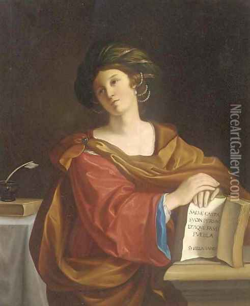 Sybilla Samia Oil Painting - Domenico Zampieri (Domenichino)