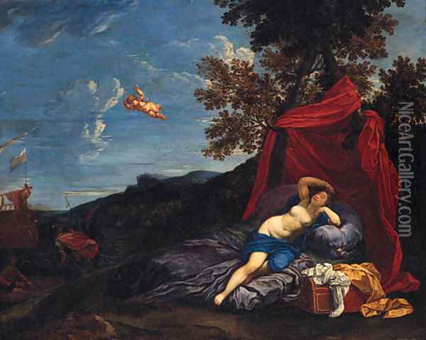 The departure of Aeneas Oil Painting - Domenico Zampieri (Domenichino)