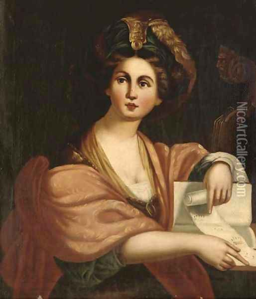 The Cumaean Sibyl Oil Painting - Domenico Zampieri (Domenichino)