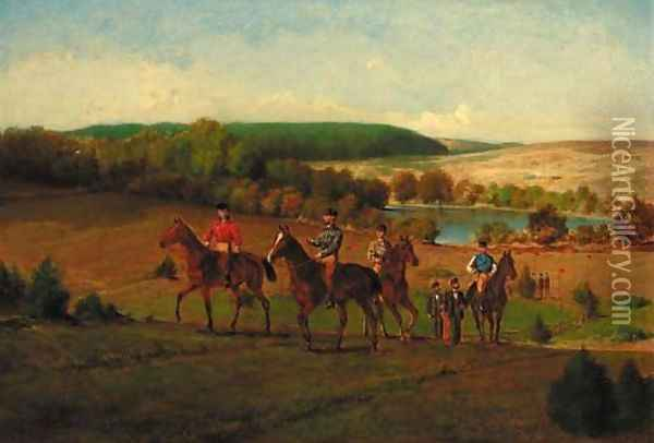 Point to Point Oil Painting - Moritz Delfs