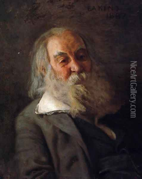 Portrait of Walt Whitman 1887-88 Oil Painting - Thomas Cowperthwait Eakins