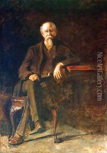 Portrait of Dr. William Thompson Oil Painting - Thomas Cowperthwait Eakins