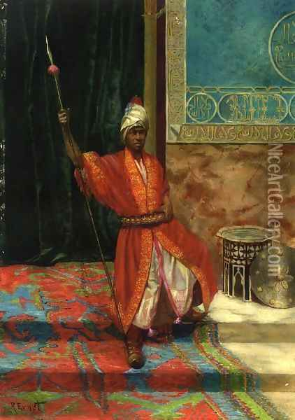 The Sultans Guard Oil Painting - Rudolph Ernst