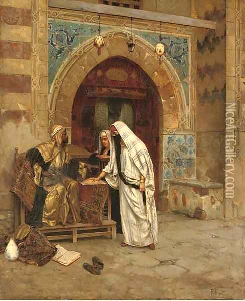 The Egyptian Fortune Teller Oil Painting - Rudolph Ernst