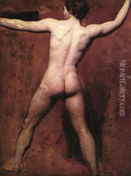 Academic Male Nude Oil Painting - William Etty