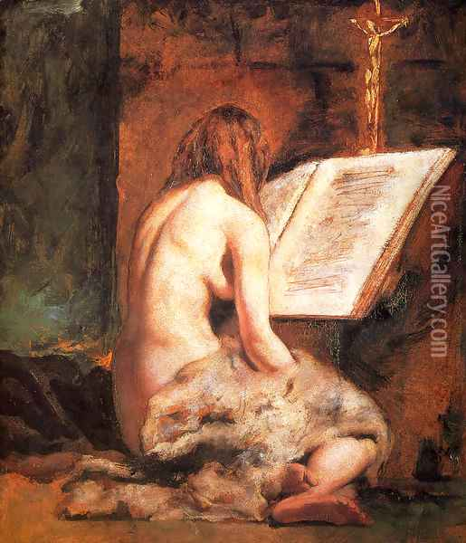 The Penitent Magdalen Oil Painting - William Etty