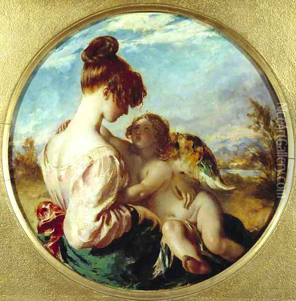The Dangerous Playmate Oil Painting - William Etty