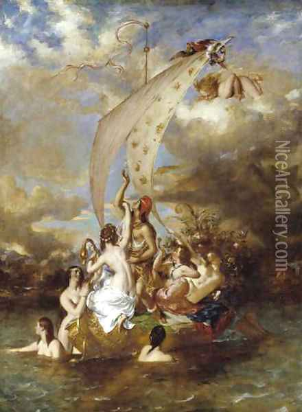 Youth at the Prow, Pleasure at the Helm Oil Painting - William Etty
